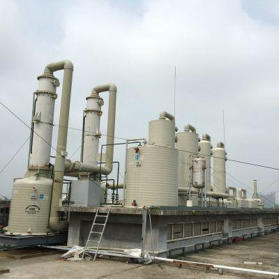 新安江RPP聚丙烯多功能废气处理成套设备 耐腐蚀空气净化环保设备 PPH工业废气塔处理成套设备
