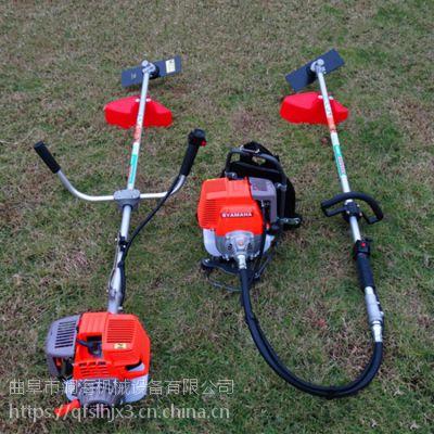 侧挂背负式小型割草机 草坪除草汽油打草机 功率大低油耗