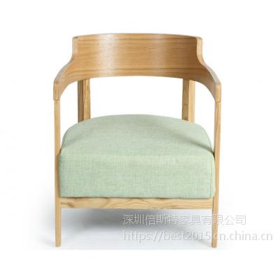 倍斯特简约现代实木扶手椅创意休闲奶茶甜品咖啡店厂家定制