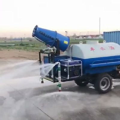 卡博恩小型雾炮三轮洒水车环保电动雾炮水罐车2立方三轮雾炮喷洒车柴油发动机洒水车