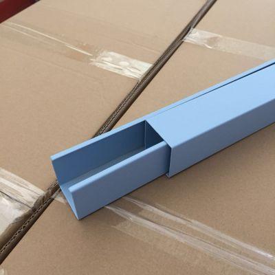 室内蓝色铝格栅吊顶 喷粉铝方通 U槽铝方通