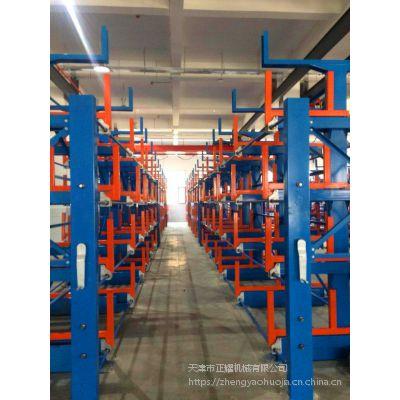 南昌天车配套悬臂式货架特点 悬臂可调节货架尺寸 棒材存储架