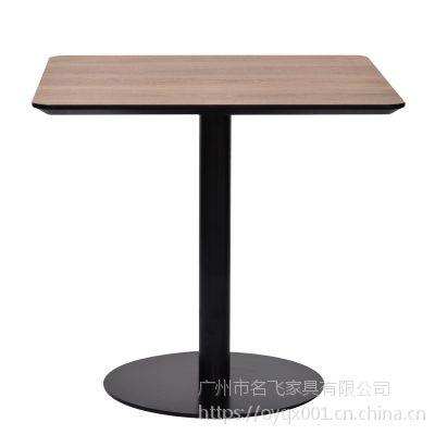 麦德嘉供应中式现代桌子 正方形餐桌 快餐店冷饮店桌子 铁艺餐台ZS01