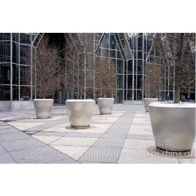 台北供应整体花盆 环保不锈钢大花器盘 花盆容器定做