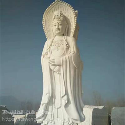 福建惠安石雕汉白玉三面观音像寺庙供奉佛像普度众生庙宇祈福摆件