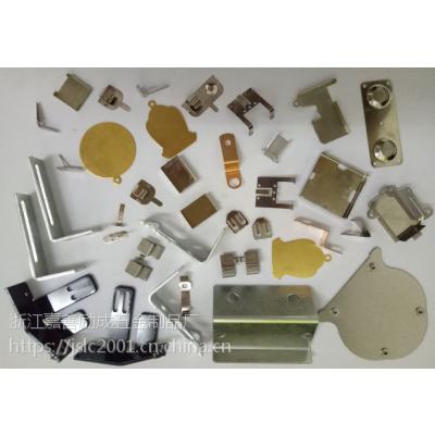 电子五金冲压件、折弯件、电器精冲件、不锈钢的弹簧片、电池导电接触极片、扬声器磁罩U杯