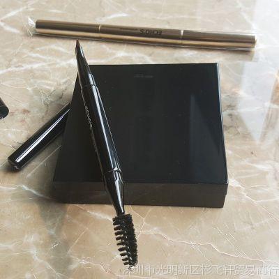 眉刷一支装斜角螺旋便携化妆刷双头迷你初学者画眉化妆工具眉粉刷