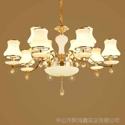 卧室灯台灯意大利风格蜡烛吊灯 兰溪市水晶灯饰城