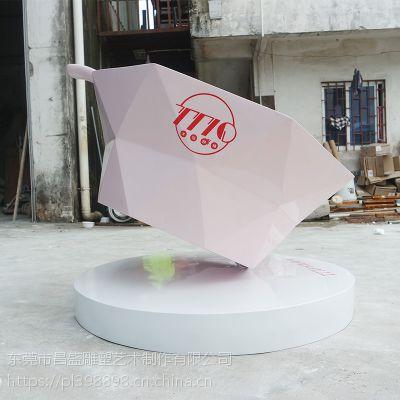 来图定制树脂纤维冰激淋雪糕玻璃钢雕塑店门口摆件户外美陈装饰