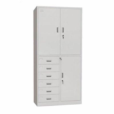 新余钢制抽屉式铁皮柜文件柜 a4办公室资料储物柜子定制厂家批发