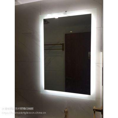 内蒙古鄂尔多斯厂家定制 星级酒店宾馆卫生间镜子 灯镜