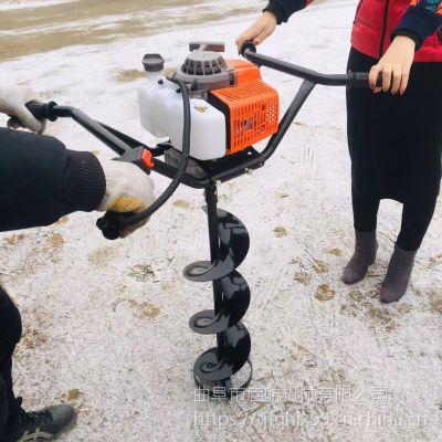 手推式挖洞机 耐用耐磨的挖坑机 启航拖拉机地钻机价格