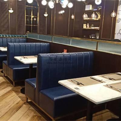 表叔茶餐厅家具定制,港式茶餐厅卡座沙发桌子组合案例