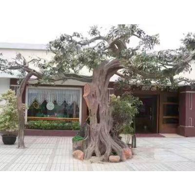 仿真树仿真假树水泥树包柱子桃花树榕树叶