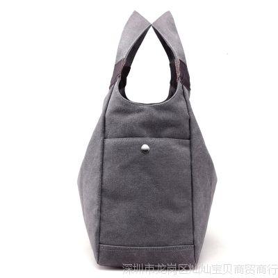 包包2017新款百搭帆布女包简约女士手提单肩包大容量购物袋休闲包