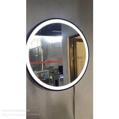 卫生间无框LED灯镜 壁挂带灯浴室镜洗手间厕所镜卫浴镜子