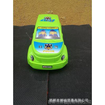 儿童益智玩具车 助力惯性儿童警车玩具 地摊热卖玩具批发