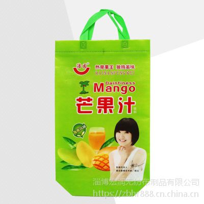 无纺布购物袋 饮料包装袋山东厂家定制