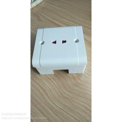 接线工业墙壁2孔插排二孔插座家庭墙面固定式插座