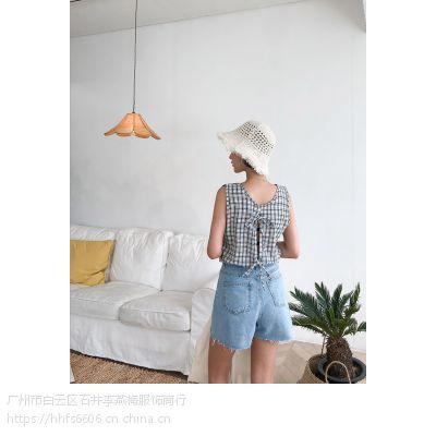 艾利欧品牌折扣服装加盟店折扣 正品女装尾货银色马甲背心