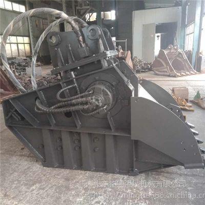 湖北三一挖掘机碎石斗厂家水泥块破碎机