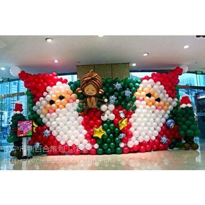 南宁酒店圣诞节装饰|商场门面圣诞气球拱门装饰|酒吧主题派对布置公司-新百和气球