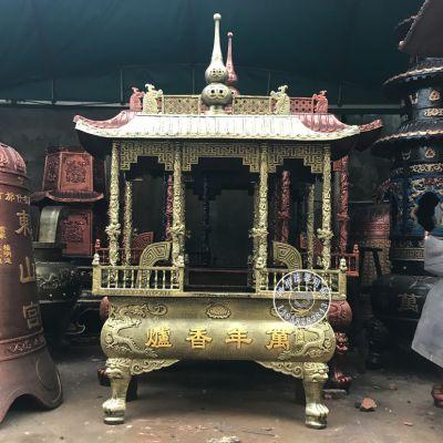 寺院长方形香炉价格 禅相法器铸造佛教香炉定制