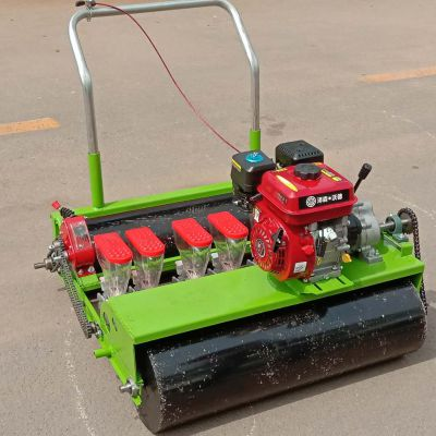 绿色蔬菜种植机 免间苗的青菜播种机 汽油自走式芹菜播种机