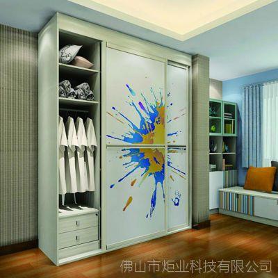简约现代整体简易实木衣柜 三门推拉门衣柜移门大衣柜厂家定制
