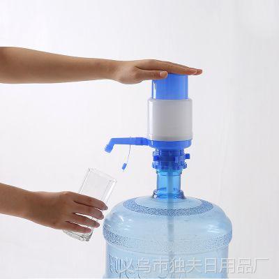 1684手压式饮水器纯净水桶桶装水压水器饮水机水龙头抽水泵吸水器