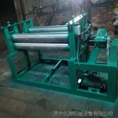 久源厂家供应压平机 双组油桶压平机 优质油桶压平机