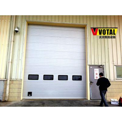 冷藏车间出货口的电动提升门