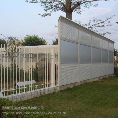 四川钿汇鑫品牌隔音降噪声屏障厂家成都声屏障安装设计报价1*6米高冷却塔降噪隔音墙