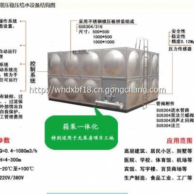河北箱泵一体化 箱泵一体化消防给水设备