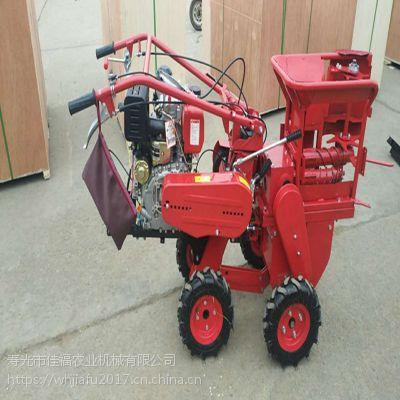 188新型柴油玉米收割机带秸秆打包还田 芦苇稻麦割晒机