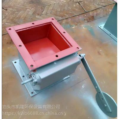 陕西手动翻板阀单层法兰连接式翻板阀生产厂家凯隆环保