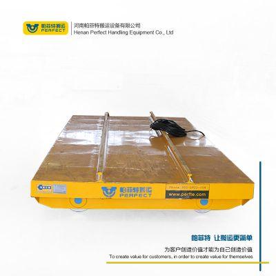 供应5吨模具搬运平车 蓄电池供电轨道小车 电动升降车