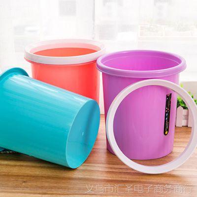 欧式创意桌面大号垃圾桶家用客厅卧室厨房卫生间厕所可爱塑料无盖