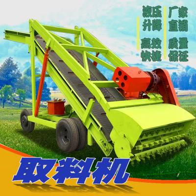 5米高青贮取料机价格 出手不凡自走牛场取草机