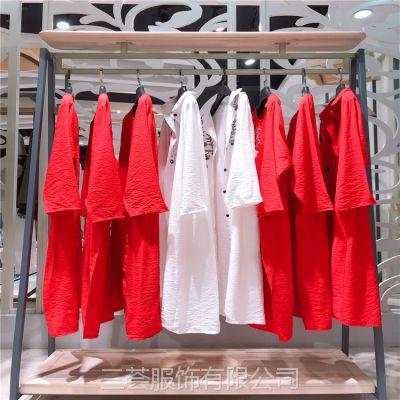 手工刺绣品牌米谷儿,少量精品货源大码棉麻连衣裙