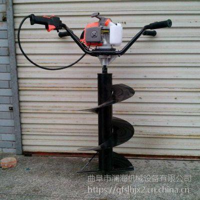 热卖手提汽油小型挖坑机 篱笆栽种地钻机 土壤打坑机