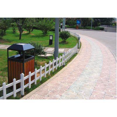 小区草坪绿化塑钢围栏 高强度pvc塑料草坪护栏