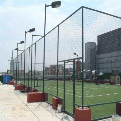 球场围网 绿色铁丝网勾花护栏