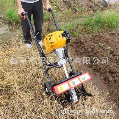 汽油农林翻地机 手推式微耕机 手推式土壤整耕旋耕机