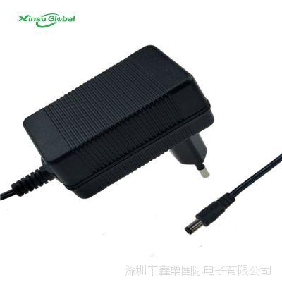 14.6V1A通过欧规CE LVD GS安规认证 12V1A铅酸电池充电器