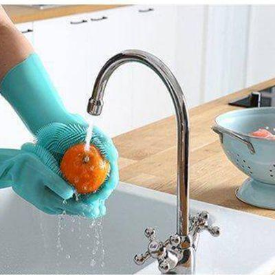 美国进口万能硅胶手套 家用摩术多功能魔术魔洗碗手套 女加厚