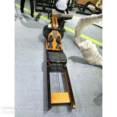 健身房专用木质水阻划船机厂家_美能达水阻划船机价格/采购