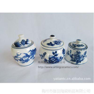 【质量保障】居家厨房专用 青花瓷调味罐三件套销售 品质源于专业