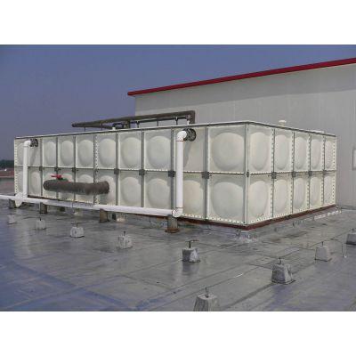 玻璃钢水箱 不锈钢整体水箱 定做圆形家用水箱