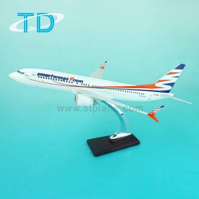 Smartwings B737-8MAX 40cm 树脂合成 比例飞机模型